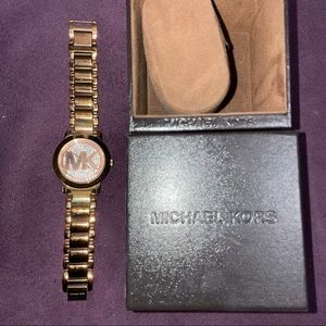 Sparkly Rose Gold Michael Kors Watch